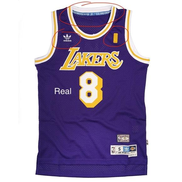 Kobe Bryant Authentic vs. Fake Adidas Jersey